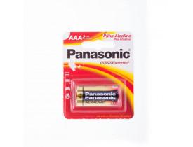 Pilha AAA Alcalina Panasonic c/ 2 unidades