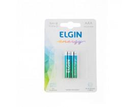 Pilha AAA Alcalina Elgin c/ 2 unidades