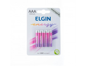 Pilha AAA Recarregável Elgin c/ 4 unidades