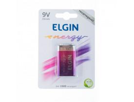 Bateria 9V Recarregável Elgin 250mAh