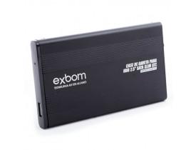 """Case de Gaveta para HD de Notebook padrão 2.5"""" USB 2.0 Exbom"""