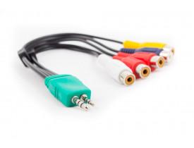 Cabo adaptador P1 +P2 / 5 RCA para TV Samsung