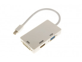 Cabo Adaptador Mini Displayport para HDMI, VGA e DVI