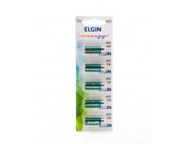 Bateria A23 12V Elgin - Cartela com 5 unidades