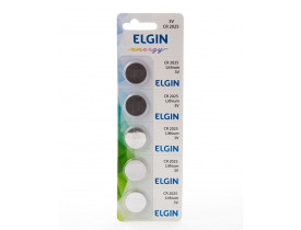 Bateria CR2025 3V Elgin - Cartela com 5 unidades