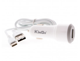 Carregador Veicular USB Turbo QuickCharge 3.0 KinGo C300