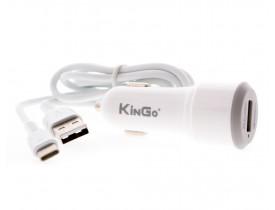 Carregador Veicular USB Turbo QuickCharge 3.0 KinGo C300