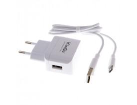 Carregador para Celulares com cabo Micro USB KinGo