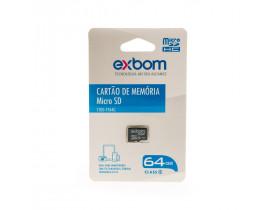Cartão de Memória MicroSD Exbom-64 Gb