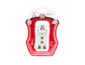 Carregador De Pilhas Mox MO-CP30