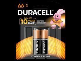 Pilha AA Alcalina Duracell c/ 2 unidades