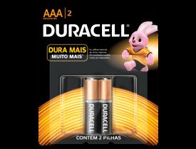 Pilha AAA Alcalina Duracell c/ 2 unidades