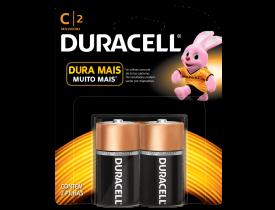 Pilha C Alcalina Duracell c/ 2 unidades