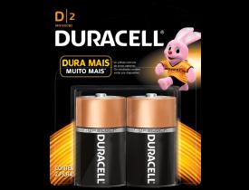 Pilha D Alcalina Duracell c/ 2 unidades