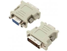 Plug Adaptador DVI-I Macho (24 + 5) para VGA fêmea