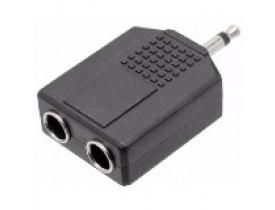 Plug Duplicador P2 Macho Mono para 2 x P10 Fêmea