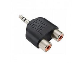 Plug Divisor P2 Macho para  2 x RCA Fêmea