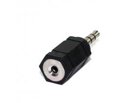 Plug Adaptador P2 Macho para P1 Fêmea Estéreo