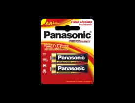 Pilha AA Alcalina Panasonic c/ 2 unidades